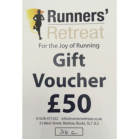 runners retreat £50 gift voucher