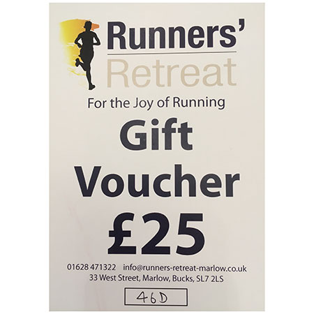 runners retreat £25 gift voucher