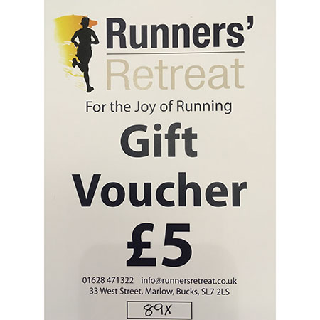 runners retreat £5 gift voucher