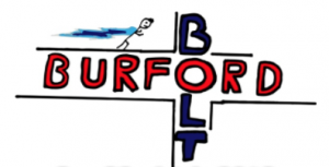 Burford bolt running race logo