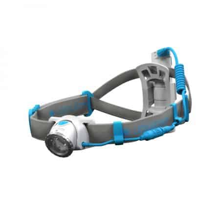 LEDLENSER NEO10R Rechargeable Running Head Torch Blue Laying View