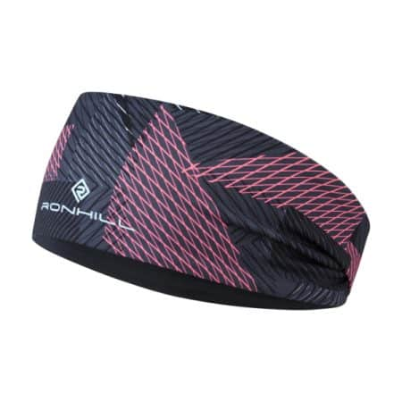 Ronhill Contour Reversible Headband Hot Pink
