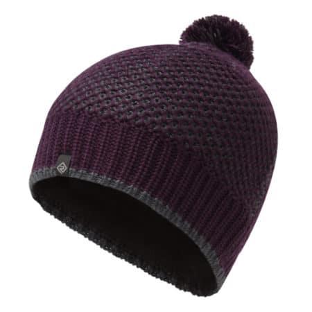 Ronhill Bobble Hat - Aubergine & Charcoal